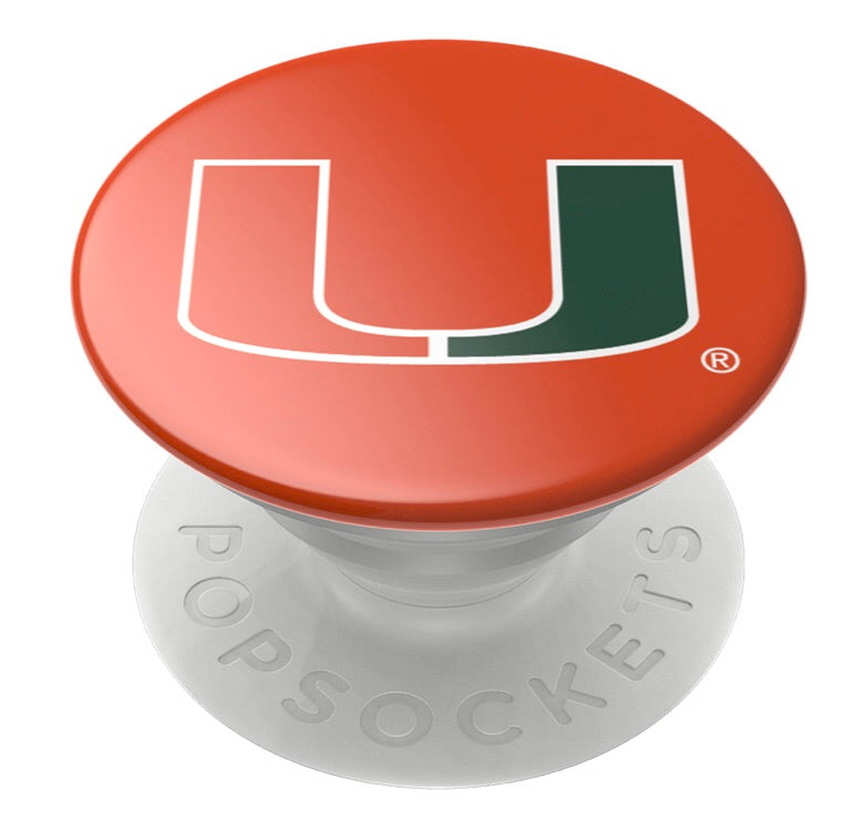 Miami Hurricanes Popsocket U Logo - Orange