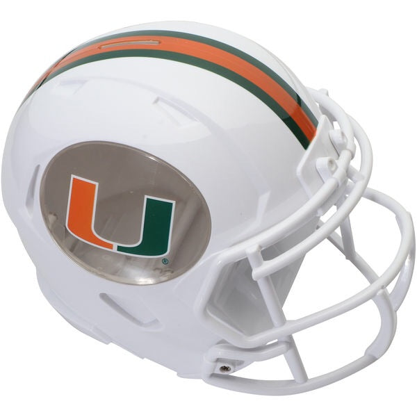 Miami Hurricanes Football Helmet Bank