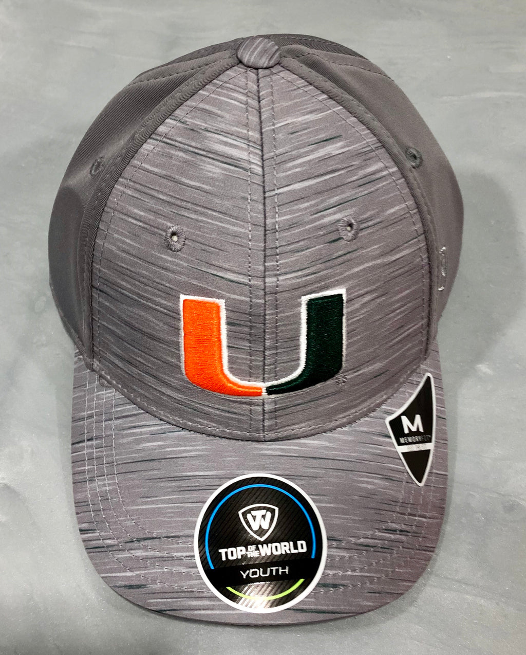Miami Hurricanes Youth Energy Flex Fitted Hat - Grey