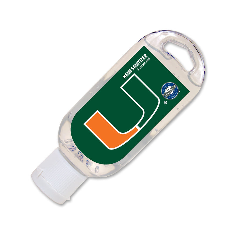 Miami Hurricanes Hand Sanitizer Gel w/ Aloe 1.5oz