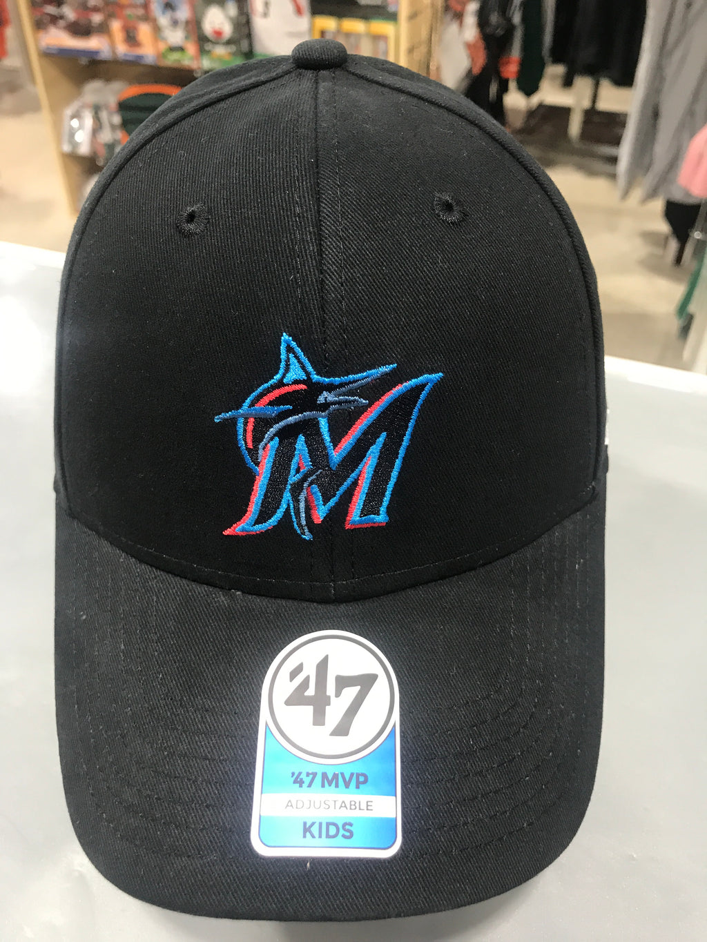 Miami Marlins Black Basic 47 MVP Kids Adjustable