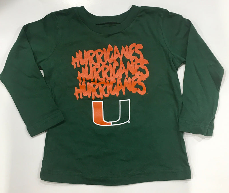 Miami Hurricanes Toddler Hurricanes Hurricanes Hurricanes Long Sleeve T-Shirt