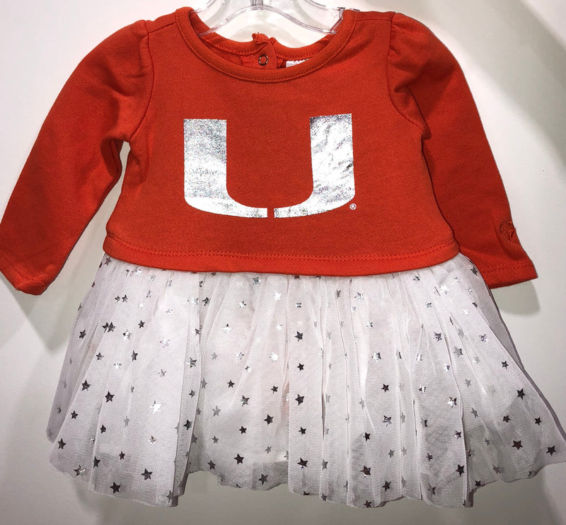 Miami Hurricanes Infant Girl's Jib Tutu Dress