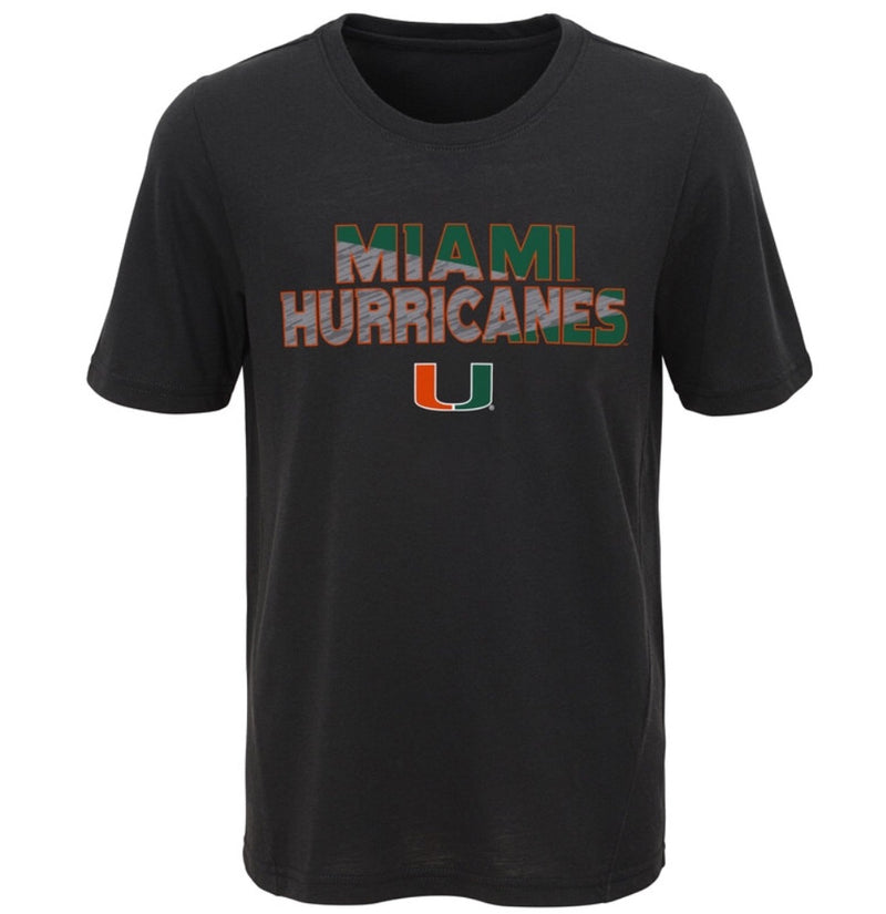 Miami Hurricanes Youth Flux SS Ultra T-Shirt - Black