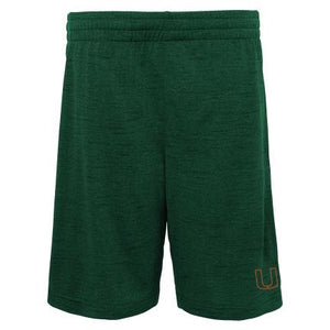 Miami Hurricanes Gen2 Youth Content Performance Shorts - Green