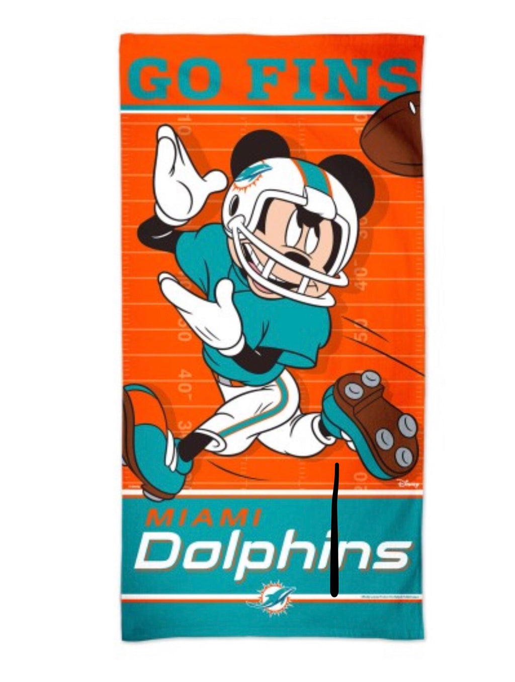 "Miami Dolphins Disney Beach Towel 30"" x 60"""