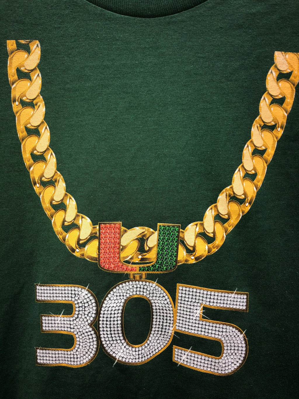 Miami Hurricanes Youth 305 Turnover Chain T-Shirt - Green