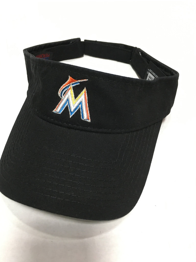 Miami Marlins Logo Adjustable Visor Black
