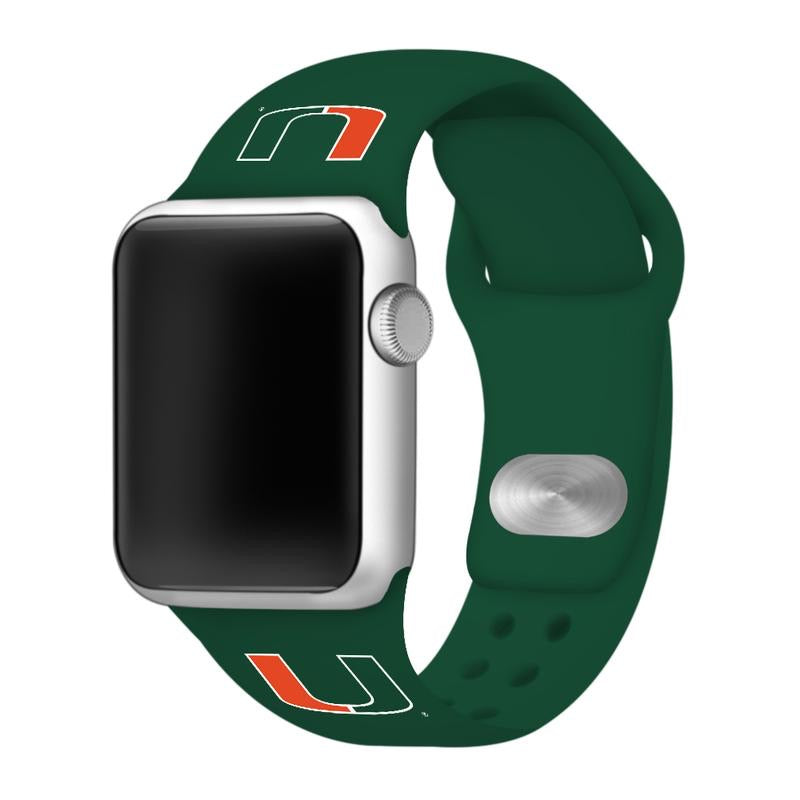Miami Hurricanes Apple Watch Band - Green
