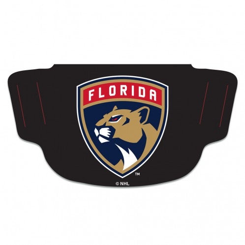 Florida Panthers Fan Mask Face Covers - Black with Logo
