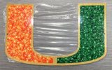 "Miami Hurricanes 12"" Turnover Chain U Logo- Steel Metal Sign"