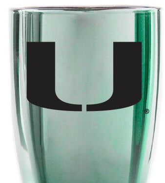 Miami Hurricanes Glass Pilsner - 2 Color