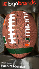 Miami Hurricanes Logo Full Size Composite Football