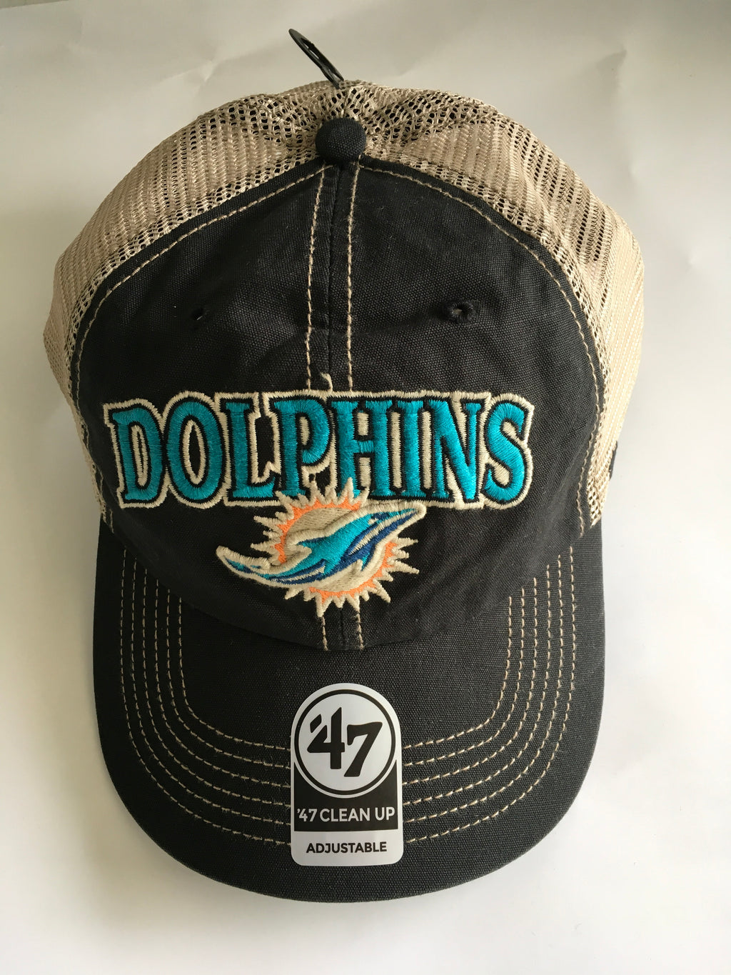 Miami Dolphins Tuscaloosa 47 Clean Up Vintage Black Hat