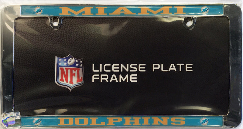 Miami Dolphins Metal License Plate Tag Frame