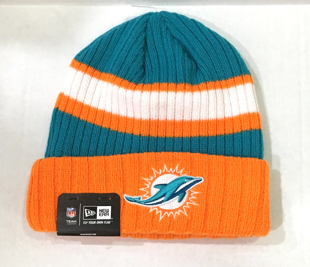 Miami Dolphins New Era Knit Beanie Hat