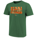 Miami Hurricanes Retro Love T-Shirt -  Green