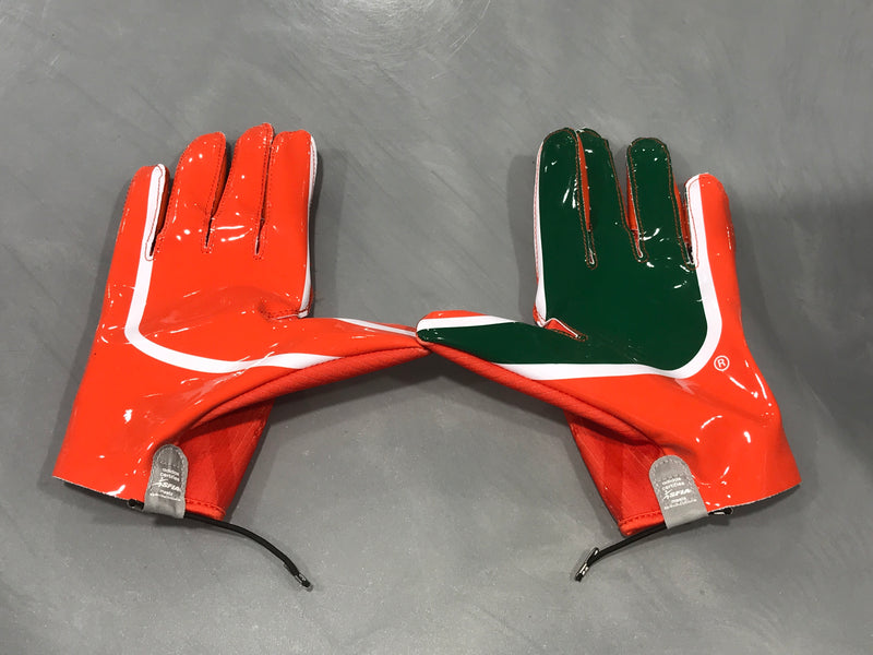 Miami Hurricanes adidas Adizero 5-star 7.0 Football Gloves - Orange