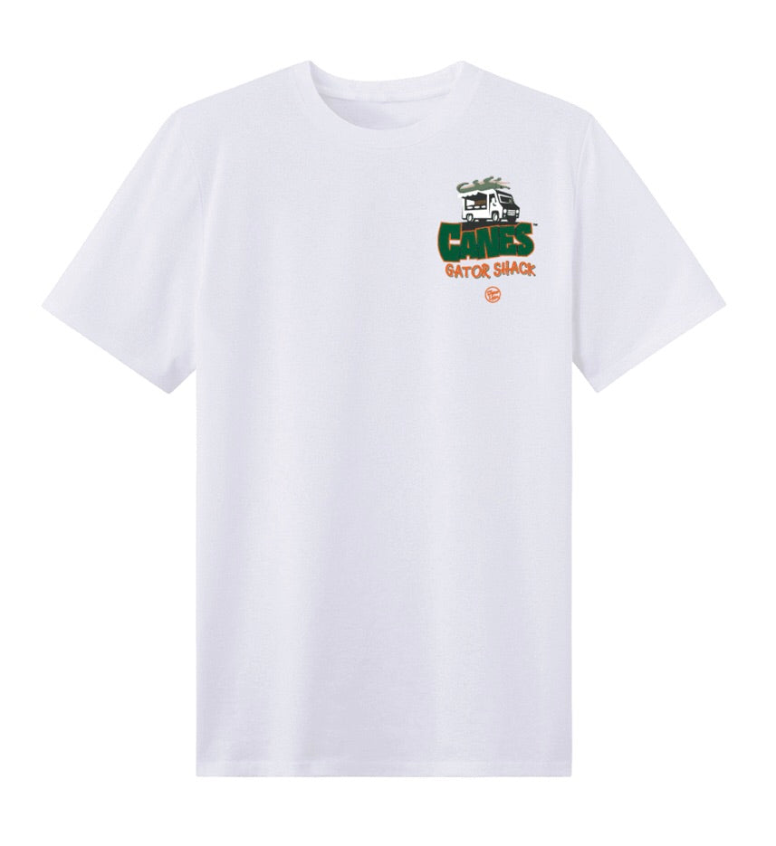 Miami Hurricanes Dyme Lyfe Gator Shack Shirt - White