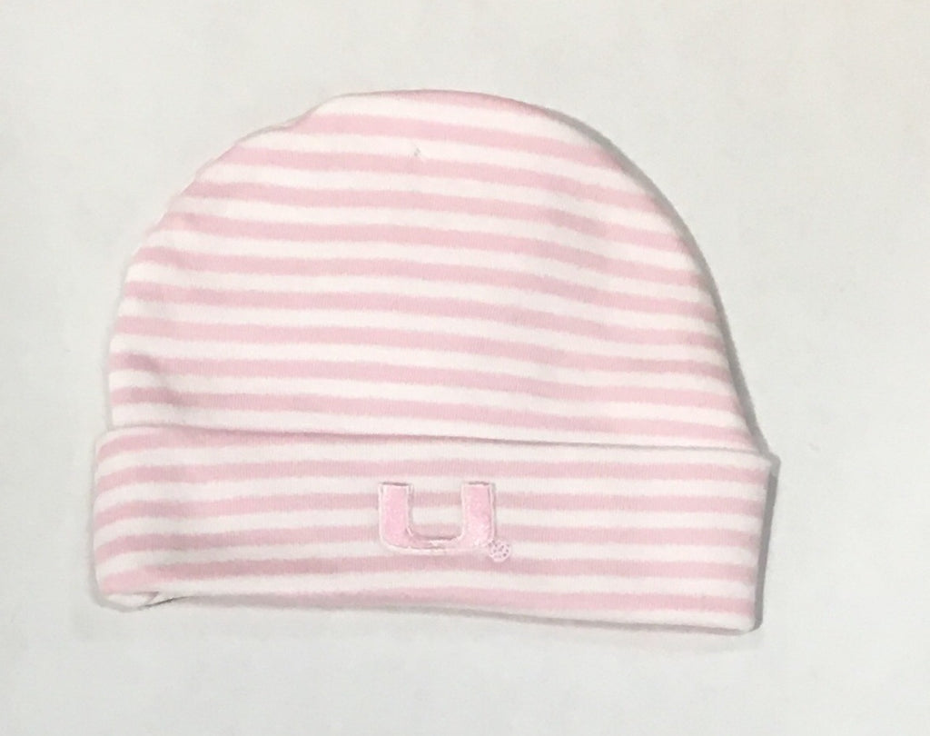 Miami Hurricanes Striped Knit Cap - Pink
