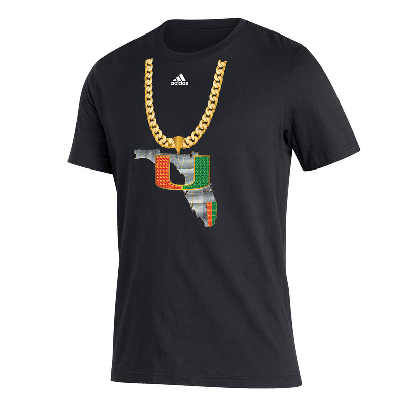 Miami Hurricanes adidas 2020 Turnover Chain T-Shirt - Black