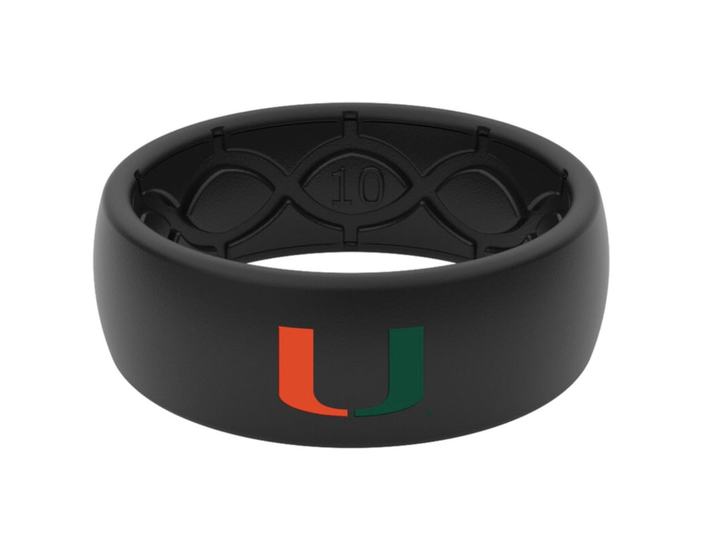 Miami Hurricanes Groove Life Silicone Ring - Green/Orange U - Original