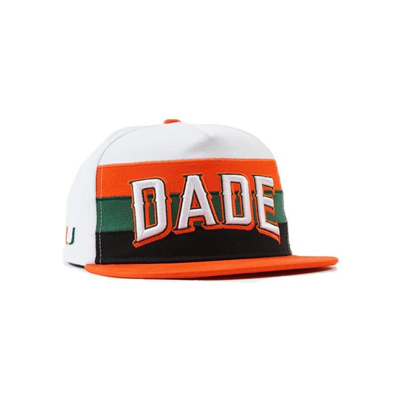 Miami Hurricanes Dyme Lyfe DADE  Flat Brim Snapback Hat - Orange/White