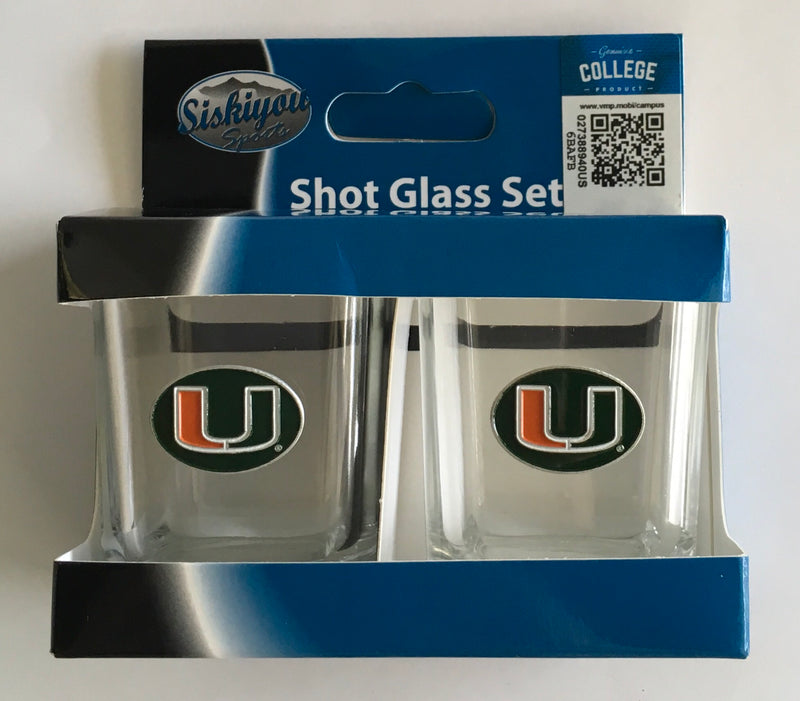Miami Hurricanes Shot Glass Set