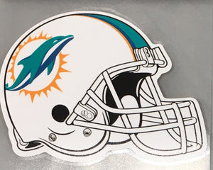 Miami Dolphins Perfect Cut Helmet Decal 5 x 6