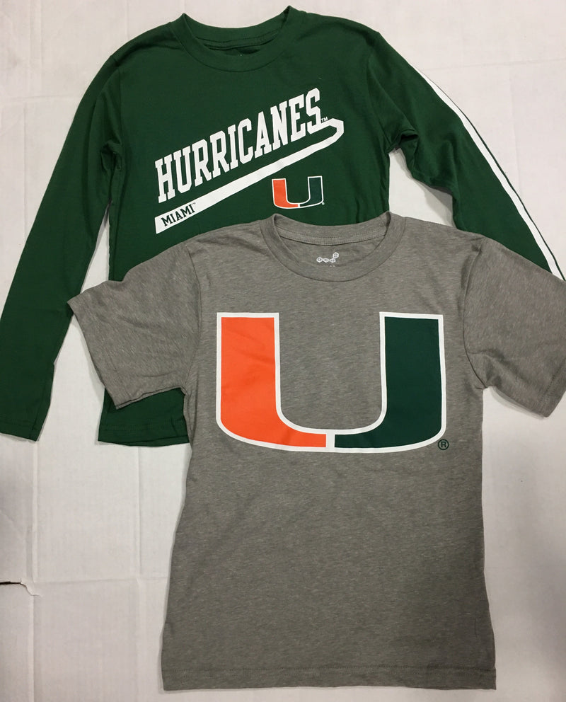 Miami Hurricanes Youth Classic Fade 3 in 1 T-Shirt Set