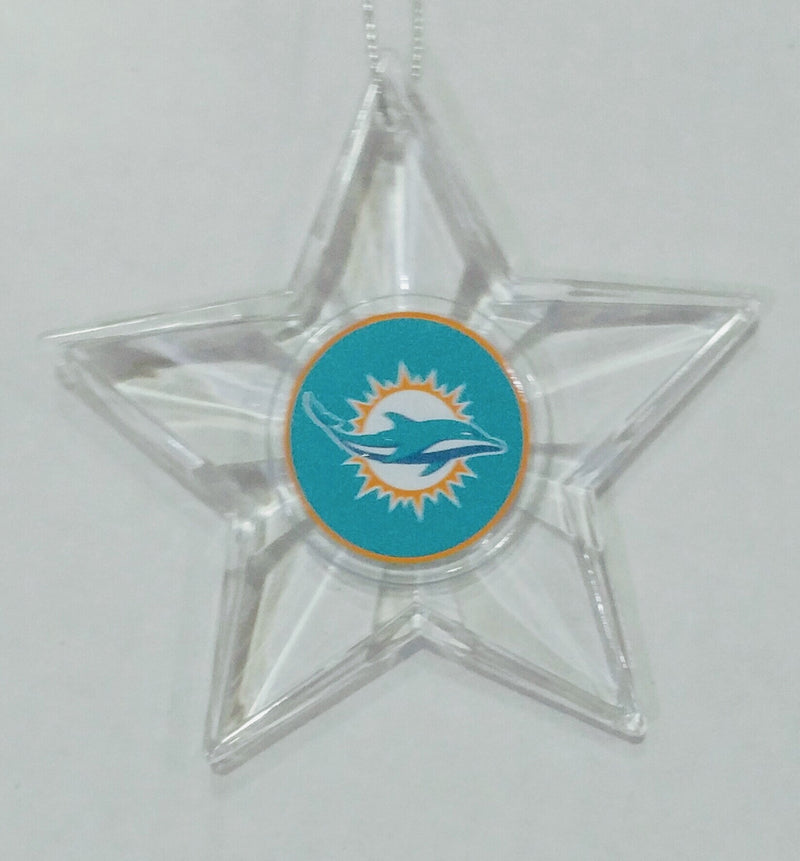 Miami Dolphins Star Ornament - CanesWear at Miami FanWear Holiday Boelter CanesWear at Miami FanWear