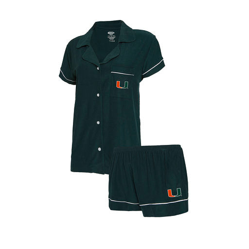 Miami Hurricanes Women's Fairway Sleepwear Set - Green