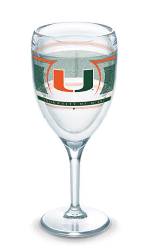Miami Hurricanes Tervis Wine Glass
