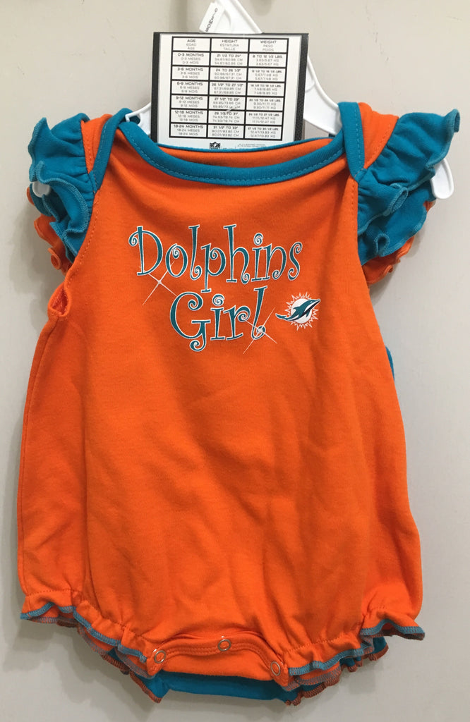 Miami Dolphins Infant 2-Piece Creeper Set