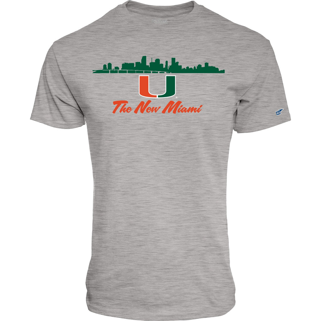 "Miami Hurricanes ""The New Miami' T-shirt - Light Grey"