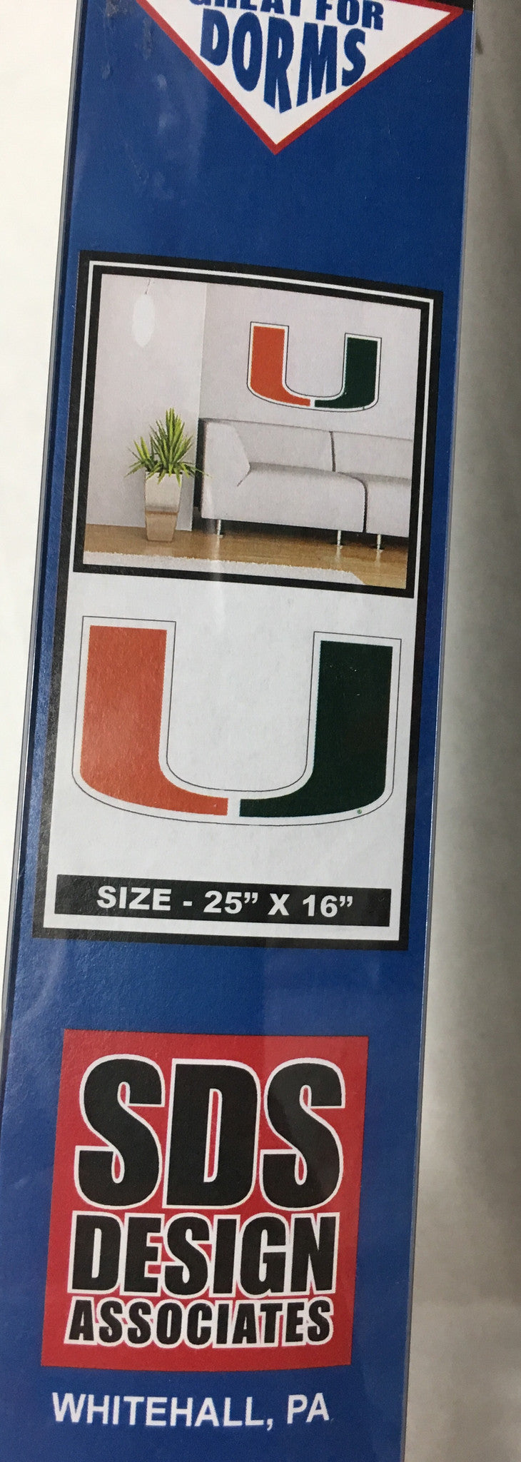 "Miami Hurricanes ""U"" Logo 25"" Wall Graphic"