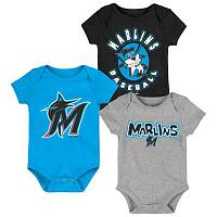 Miami Marlins Everyday Fan 3pk Creeper Set