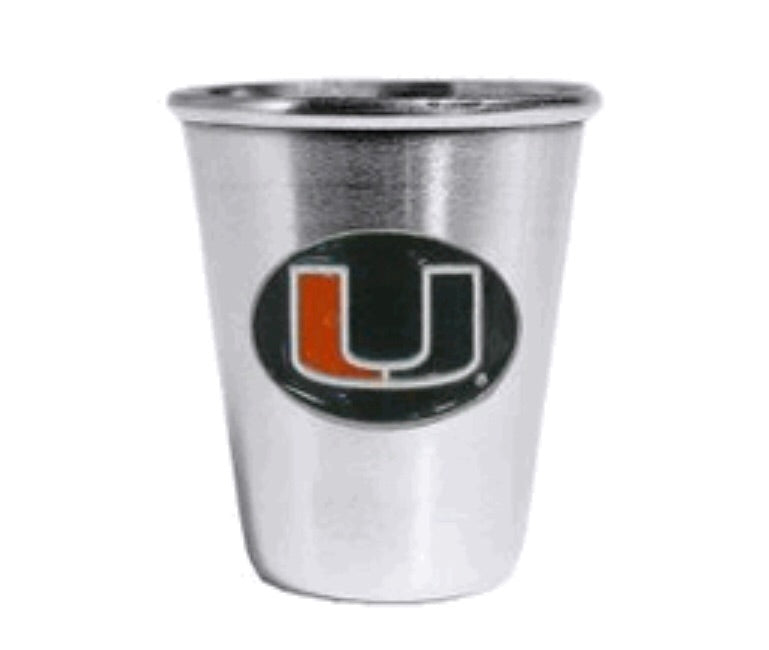 Miami Hurricanes Steel Shot Glass