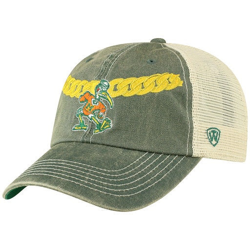 f6c79ce8 Miami Hurricanes Turnover Chain Hat - Adjustable DMSH Green front Hat