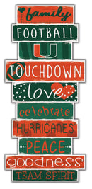 Miami Hurricanes Celebrations Stack Wooden Sign - 24""
