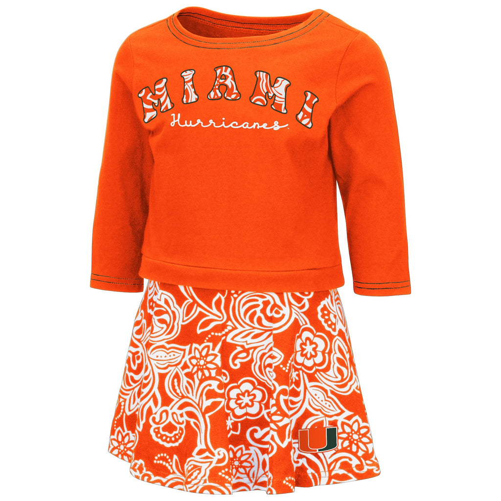 Miami Hurricanes 2019 TODDLER GIRLS BIRDIE SKIRT -ORANGE/WHITE