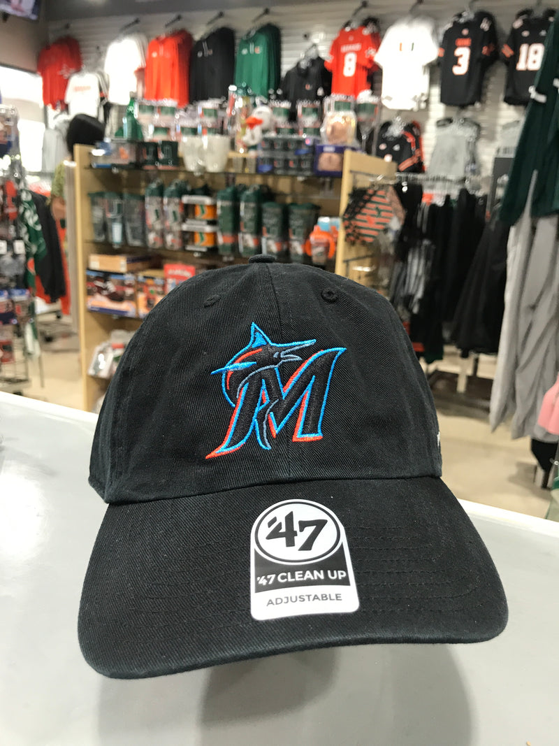 Miami Marlins '47 Black Clean Up Adjustable Hat