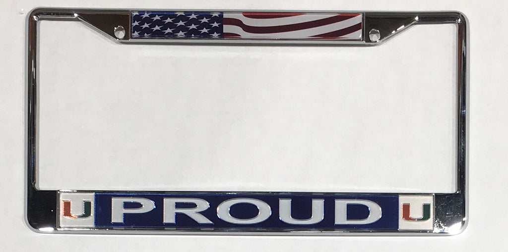 Miami Hurricanes PROUD Metal License Plate Frame