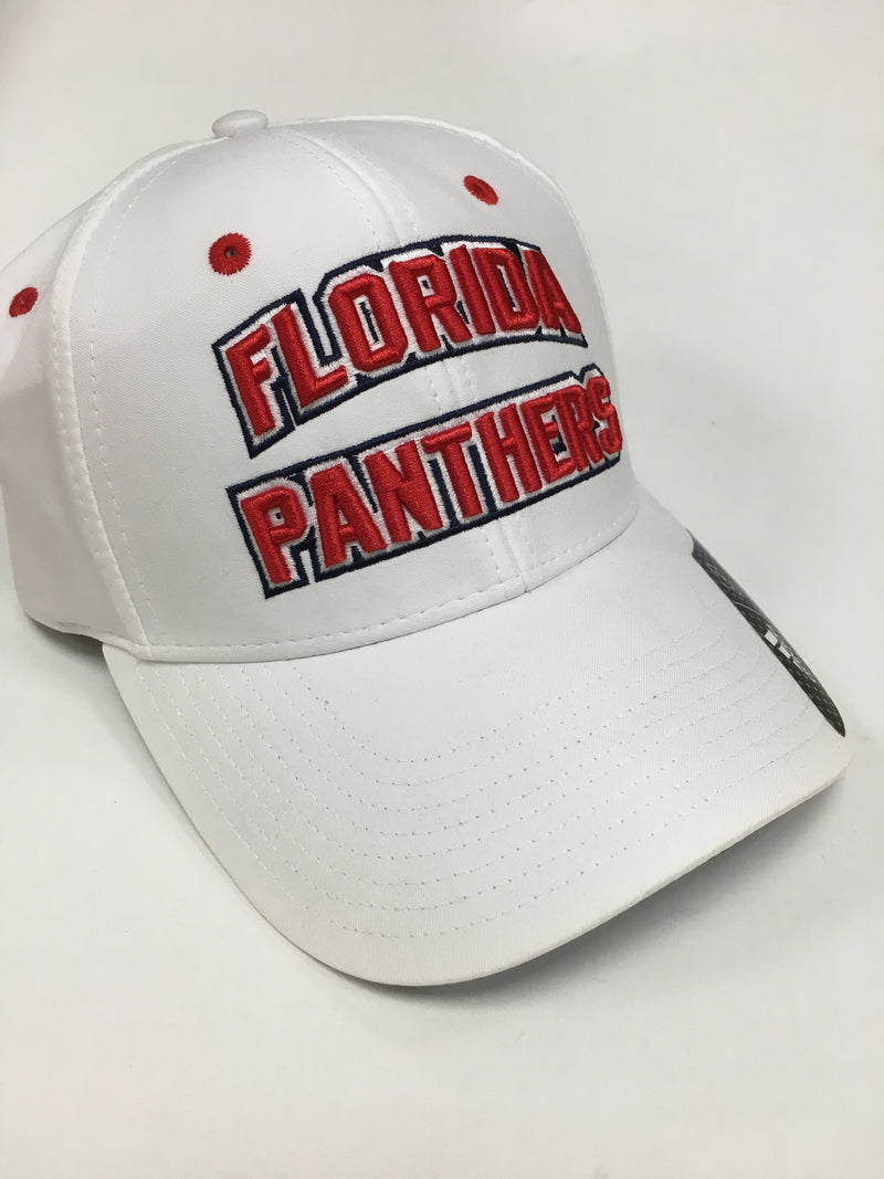 Florida Panthers adidas Structured Strapback Hat- White
