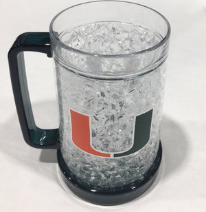 Miami Hurricanes Crystal Freezer Mug - Green