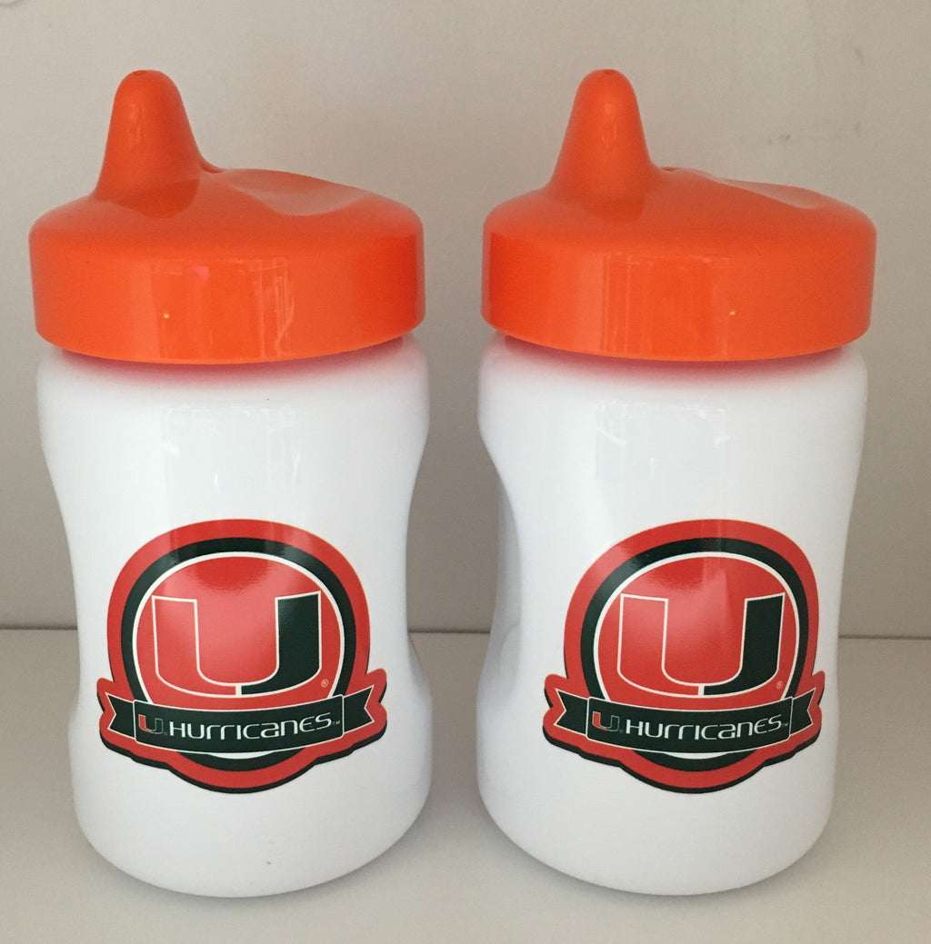 Miami Hurricanes Sippy Cups - 2 Pack