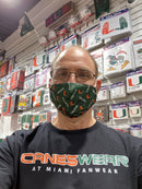 Miami Hurricanes Reusable Face Mask
