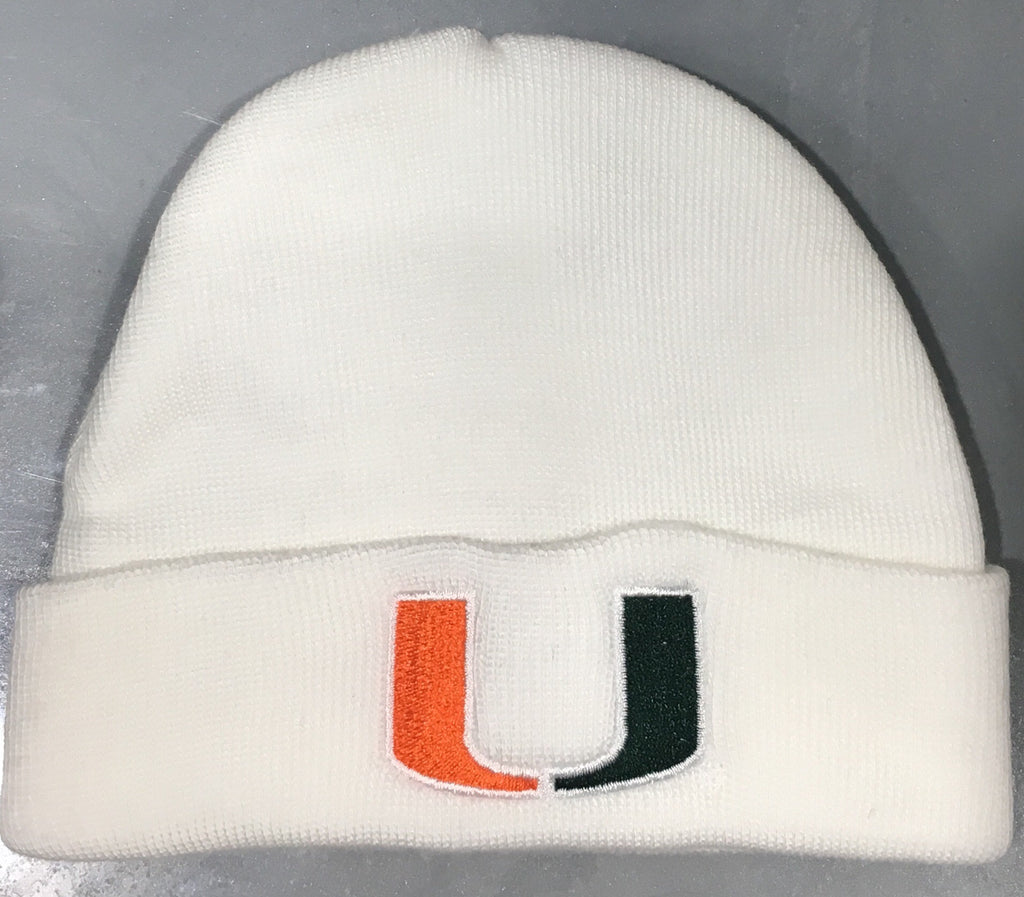 Miami Hurricanes INFANT LIL TYKE KNIT Tow Beanie - White – CanesWear at  Miami FanWear d1660fe4dcb