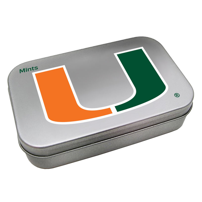 Miami Hurricanes Large Mint Tin w/Sugar-Free Peppermint Candy