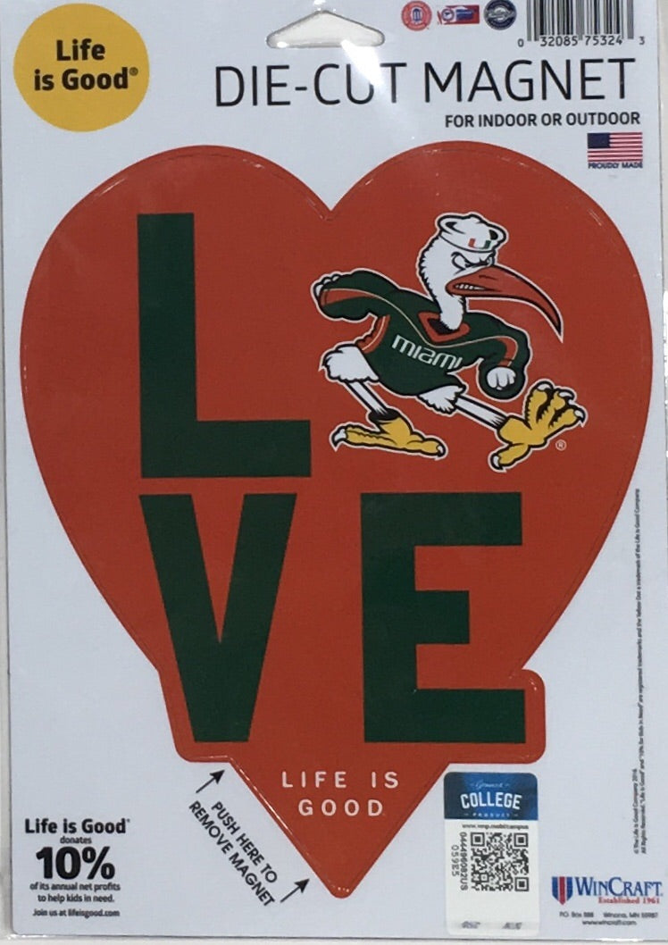 MIAMI HURRICANES MAGNET SET-MIAMI HURRICANES 6 PACK OF CAR MAGNETS-AWESOME TAILGATE PACK